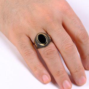 Selçuklu Motifli Erkek Yüzüğü 14 Ayar