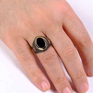 Tuğralı Altın Erkek Yüzüğü 14 Ayar