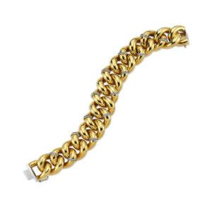 Cetaş 14 Ayar Eterna Sarı Altın Zirkon Taşlı Bileklik