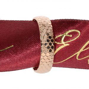 5mm Çakır Pullu Bayan Roz Altın Alyans