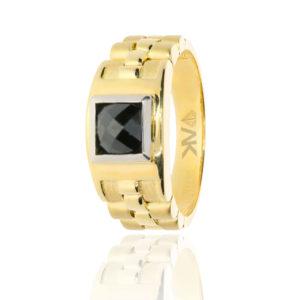 Kordon Altın Erkek Yüzüğü 14 Ayar