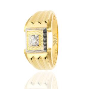 Tektaş Altın Erkek Yüzüğü 14 Ayar