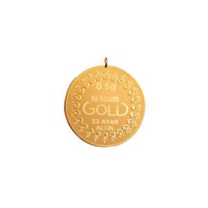 0.50 Gram Kulplu 22 Ayar Altın