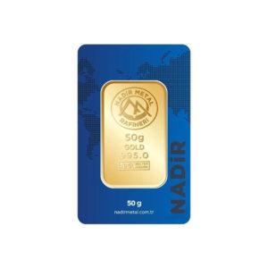 Nadir Gold 24 Ayar Külçe Gram Altın 50 Gr