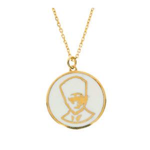 14 Ayar Altın Atatürk Simgeli Madalyon Kolye