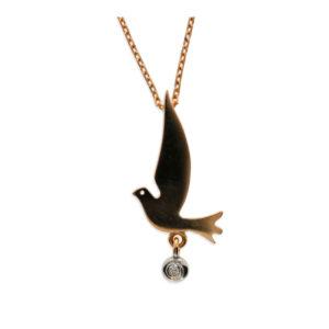 14 Ayar Altın Güvercin Simgeli Fantezi Kolye
