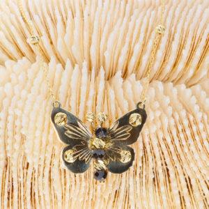 14 Ayar Altın Kelebek Simgeli Fantezi Kolye
