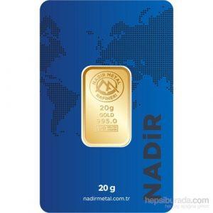 Nadir Gold 24 Ayar Külçe Gram Altın 20 Gr