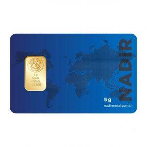 Nadir Gold 24 Ayar Külçe Gram Altın 5 Gr