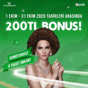 Altınkonak Ekim 2020 Bonus Kampanyası
