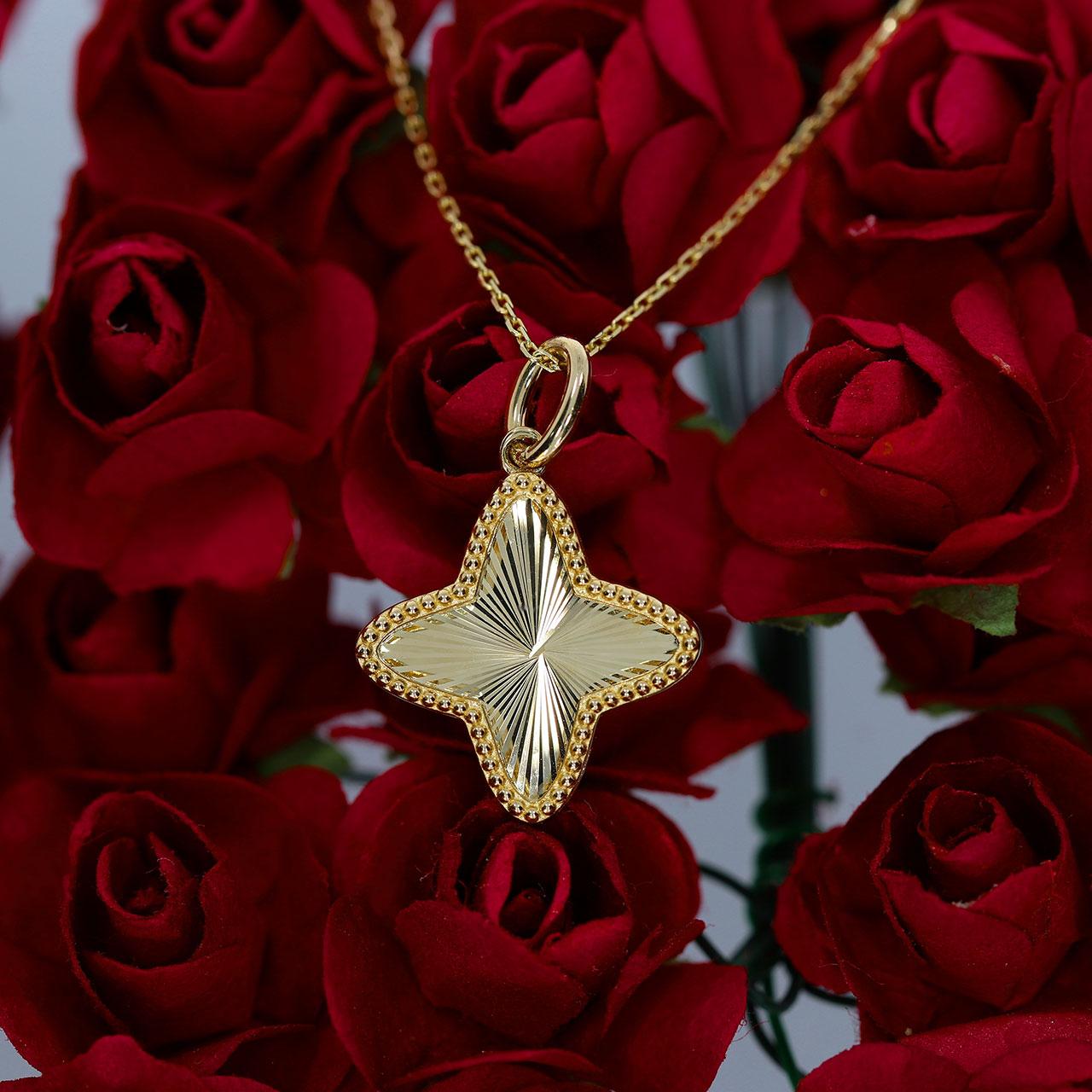 Dört Köşeli Altın Yıldız Kolye 14 Ayar