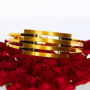 3 Sıralı Altın Kaburga Bilezik 14 Ayar