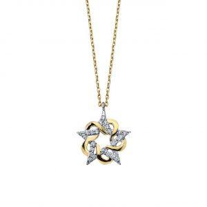 Yıldız Çiçeği Altın Kolye 14 Ayar
