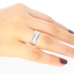 5,8mm Şık Gümüş Alyans