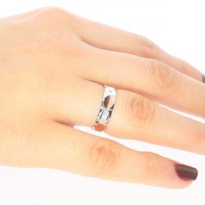 5mm Şık Gümüş Alyans