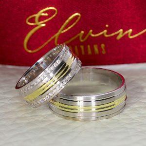 7,50mm Kalemli Gümüş Alyans