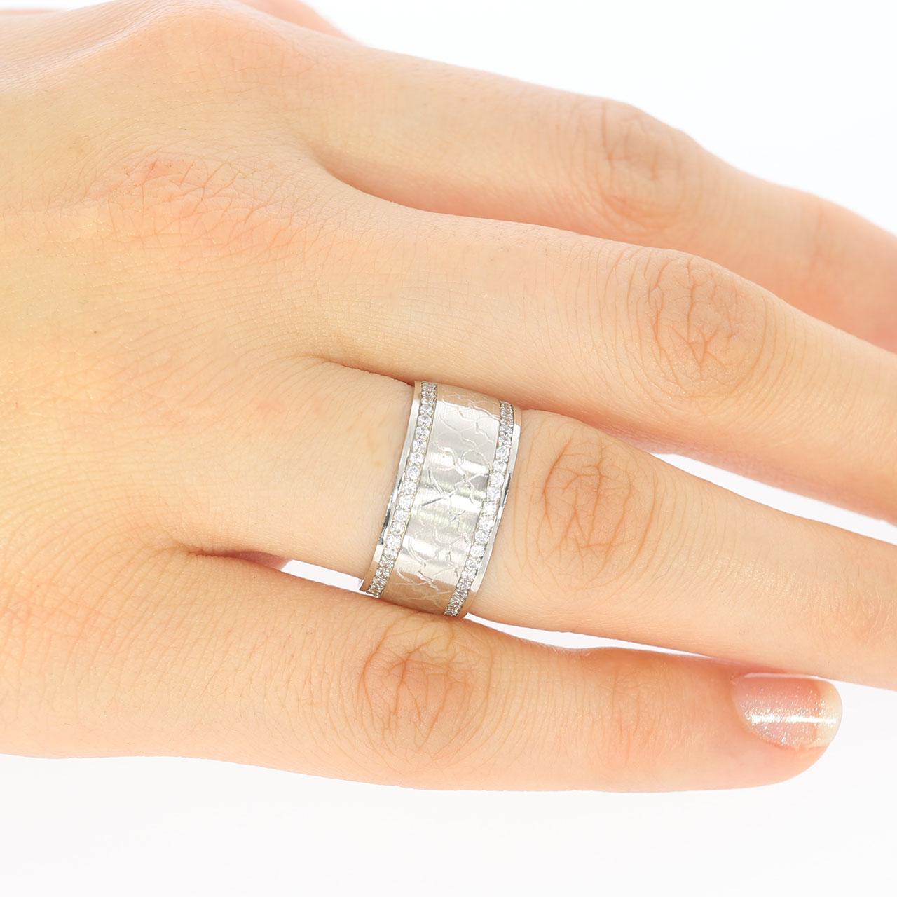 9mm Lazer İşlemeli Gümüş Alyans