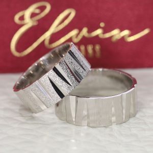 Zikzak Desenli Gümüş Alyans