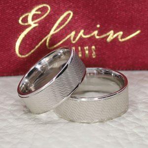 7mm Fırçalı Flat Gümüş Alyans