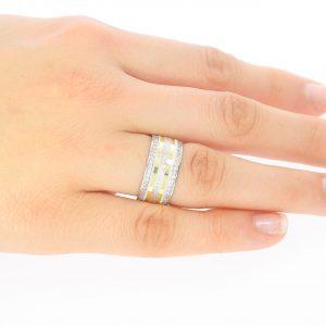 8.80mm Oluklu Gümüş Alyans
