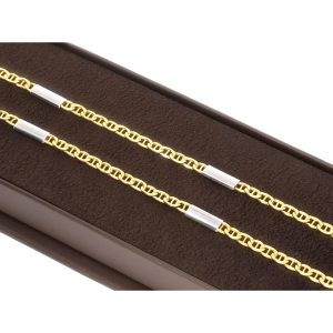 Unisex Mariner Altın Zincir 14 Ayar