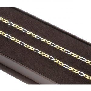 Unisex Figaro Altın Zincir 14 Ayar
