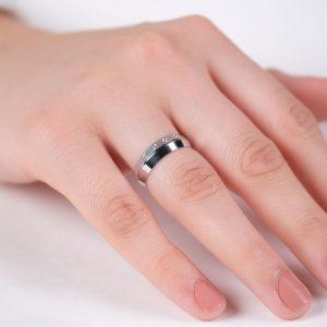 6mm Şık Gümüş Alyans