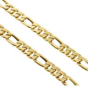 Figaro Kalın Erkek Altın Zincir 14 Ayar