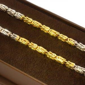3mm Kral Altın Zincir 14 Ayar