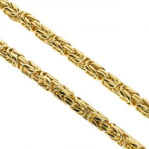 5,5mm Kral Kalın Erkek Altın Zincir 14 Ayar