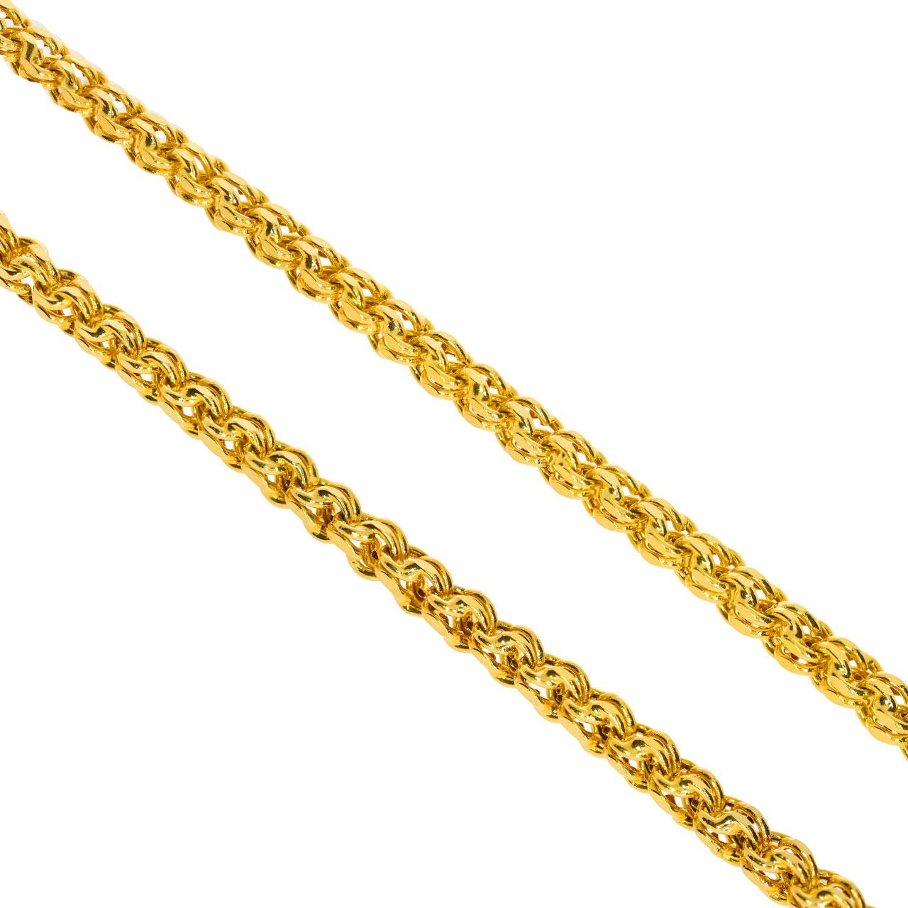 Unisex Güverseli Altın Zincir 14 Ayar