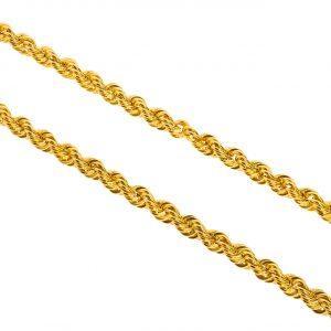 3,5mm Halat Altın Zincir 8 Ayar