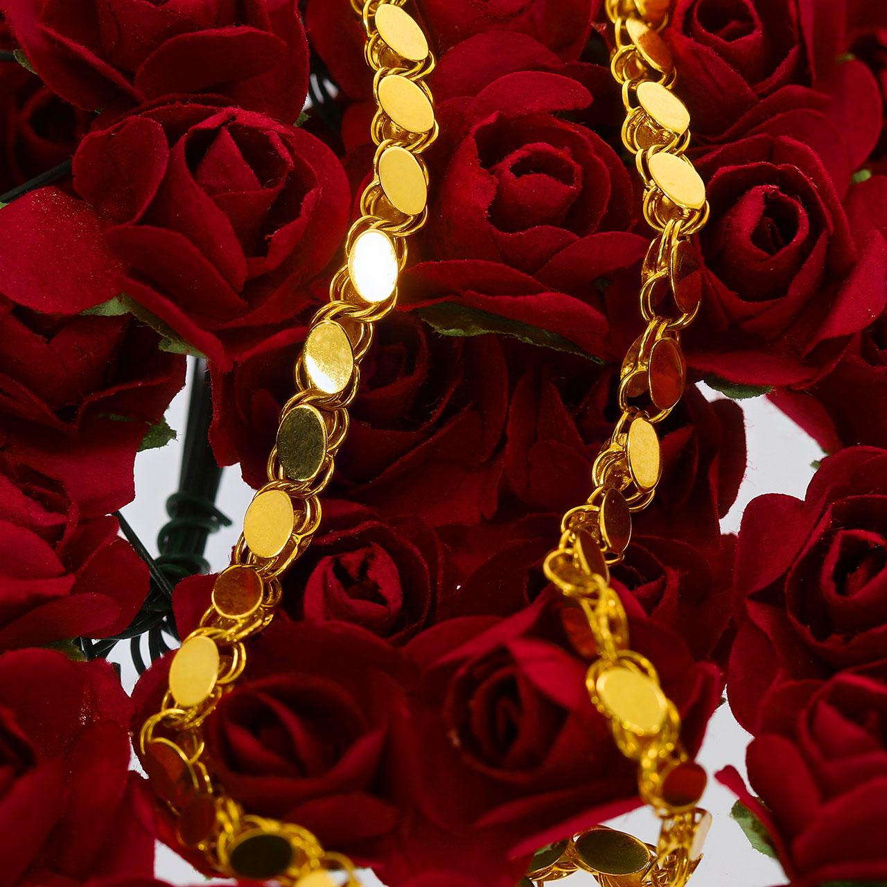 Pullu Altın Zincir 14 Ayar