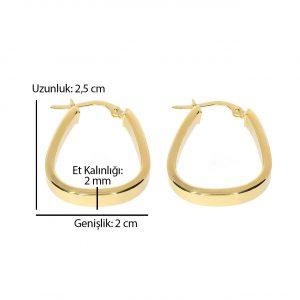 2,50cm Damla Altın Küpe 14 Ayar