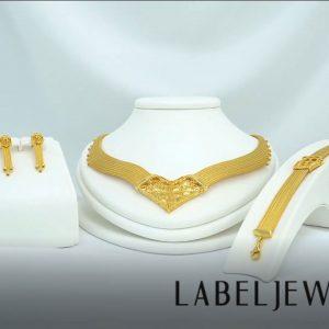 Label Örme Altın Düğün Seti 14 Ayar