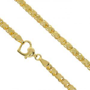 3.85mm Kalpli Pullu Altın Zincir 14 Ayar